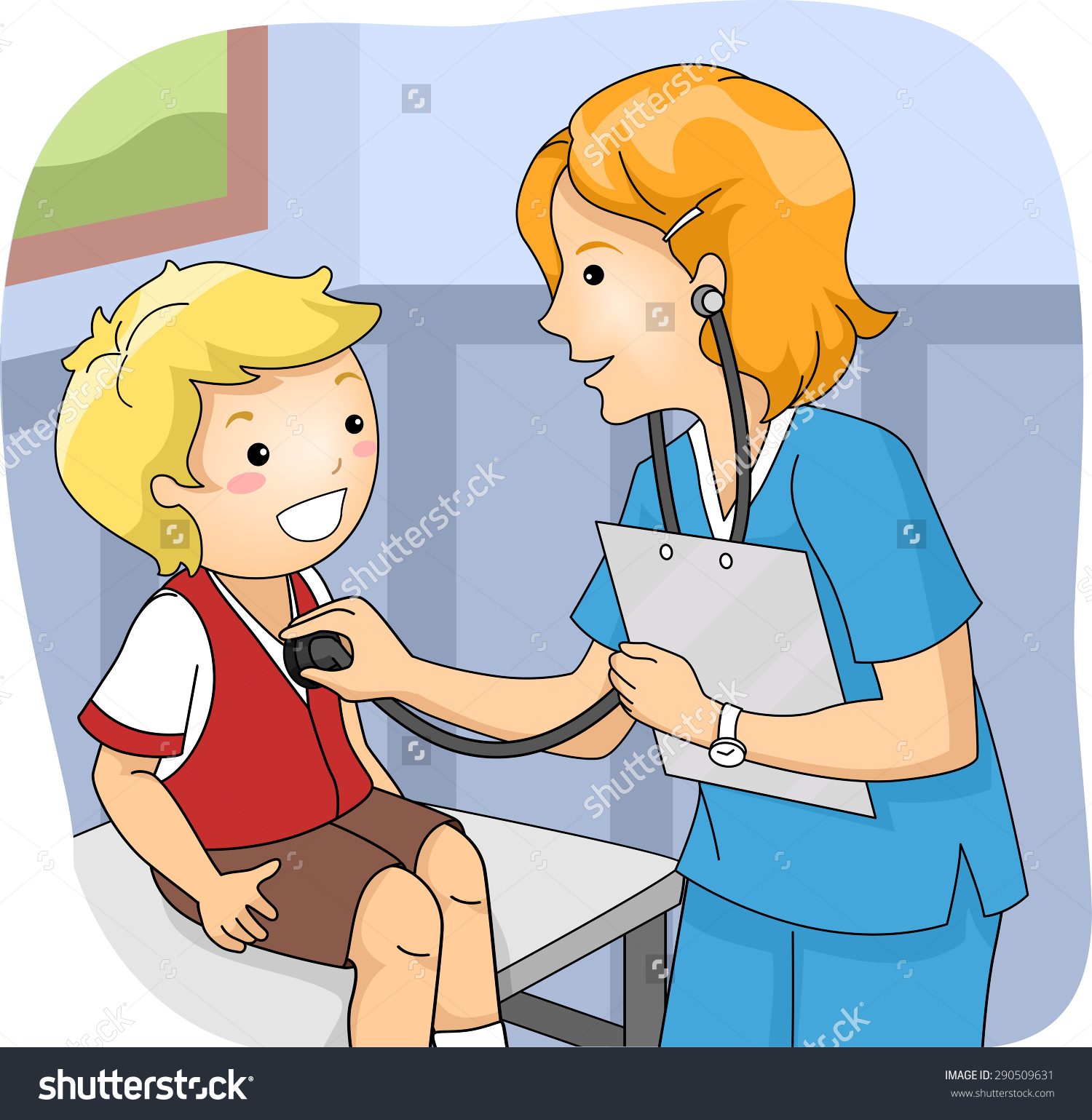 Medical check up clipart.