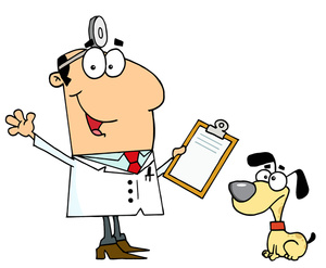 Puppy Check Up Clipart.