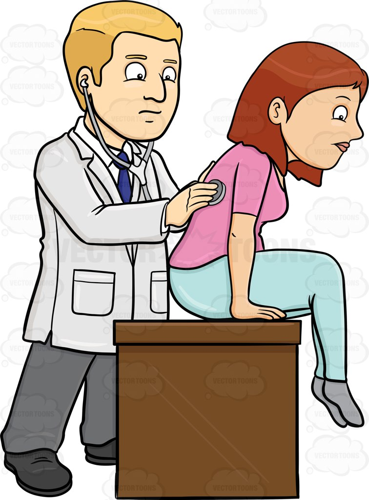 A Doctor Using A Tool To Check Up A Female Patient.