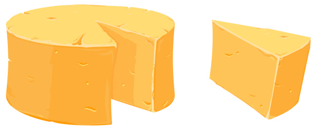 Cheddar cheese clipart 2.