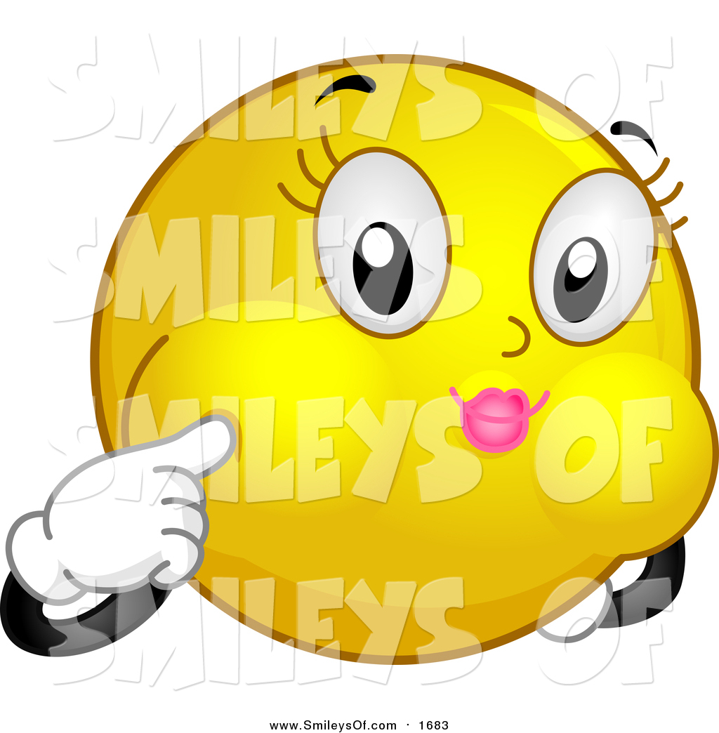 Royalty Free Stock Smiley Designs of Puffy Cheeks.