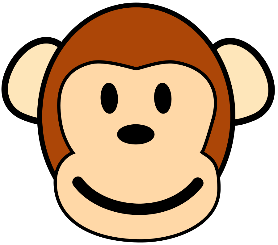 Cheeky monkey clipart.