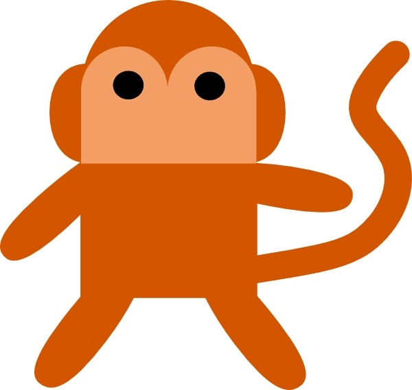 Cheeky Monkey clip art Free vector in Open office drawing svg.