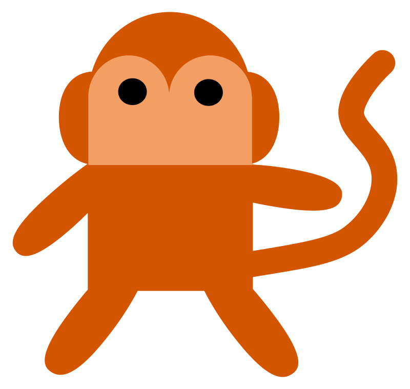 Free Clipart: Cheeky Monkey.