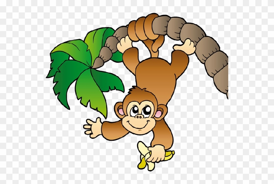Jungle Clipart Cheeky Monkey.