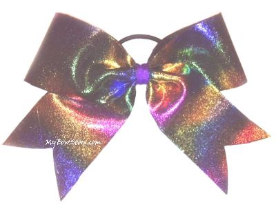 Tye Dye Cheerleading Hair Bows.