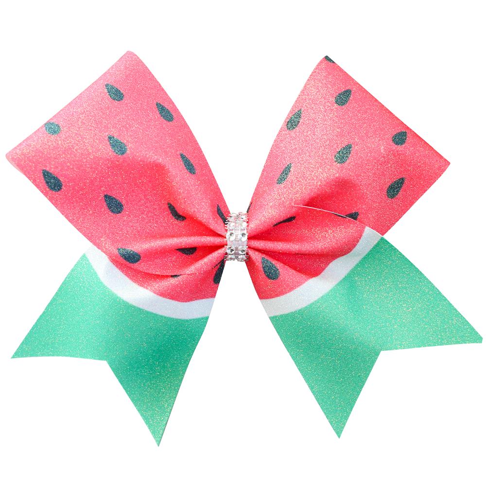 Watermelon Glitter Cheer Bow.
