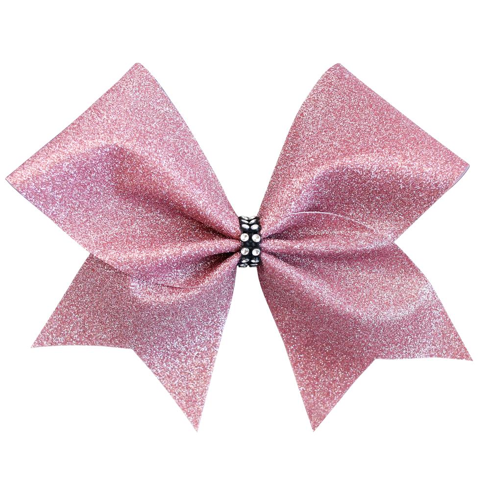 Rose Gold Glitter Cheer Bow.