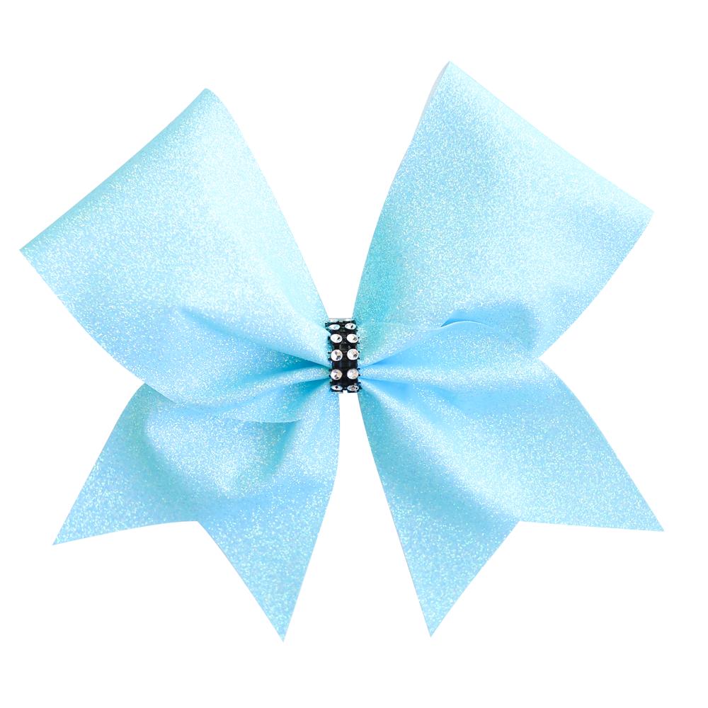 Pastel Blue Glitter Cheer Bow.