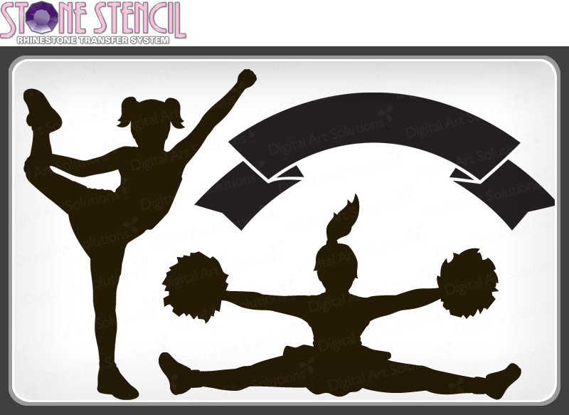 Cheerleading cheer clipart 2.
