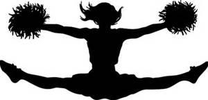 Cheerleader Silhouette Clip Art.