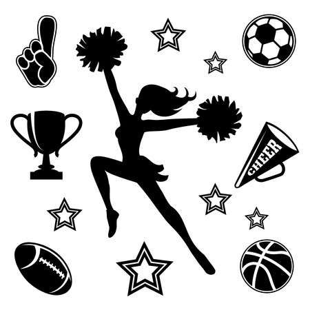 3,339 Cheerleader Stock Vector Illustration And Royalty Free.