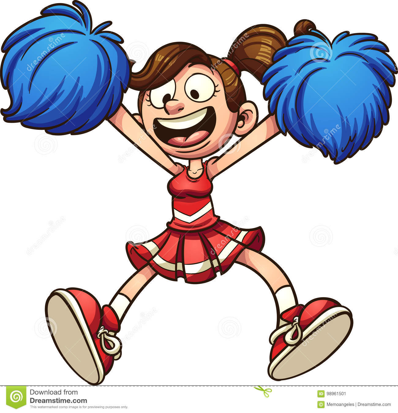 Cheerleaders clipart 5 » Clipart Station.