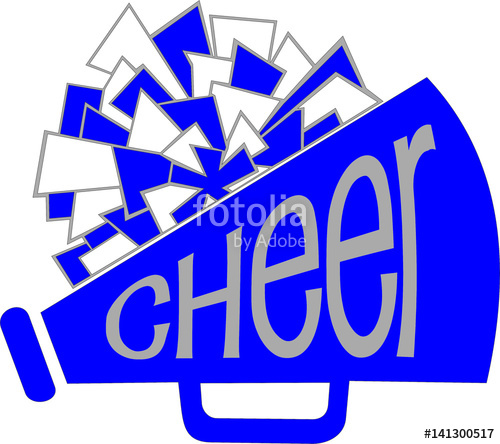 CHEER MEGAPHONE WITH POM\