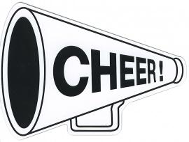 Cheer Megaphones Clipart.