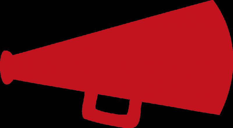 Terrific Cheer Bullhorn Free Red Megaphone Clipart Image.