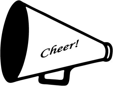 Cheer megaphone clipart black and white free cliparting.