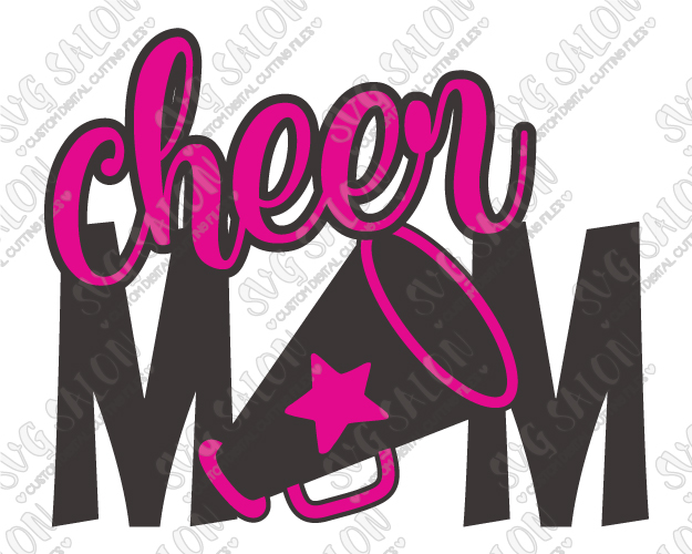 Cheer Mom Cut File in SVG, EPS, DXF, JPEG, and PNG.