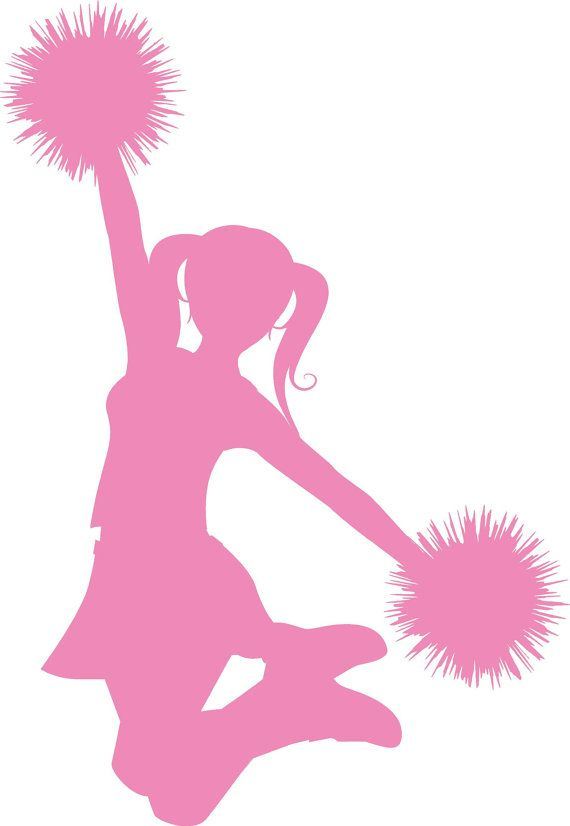 cheer silhouette clipart clipground