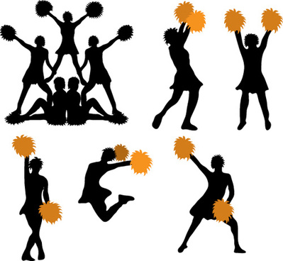 Cheerleader silhouette vector free vector download (5,149 Free.