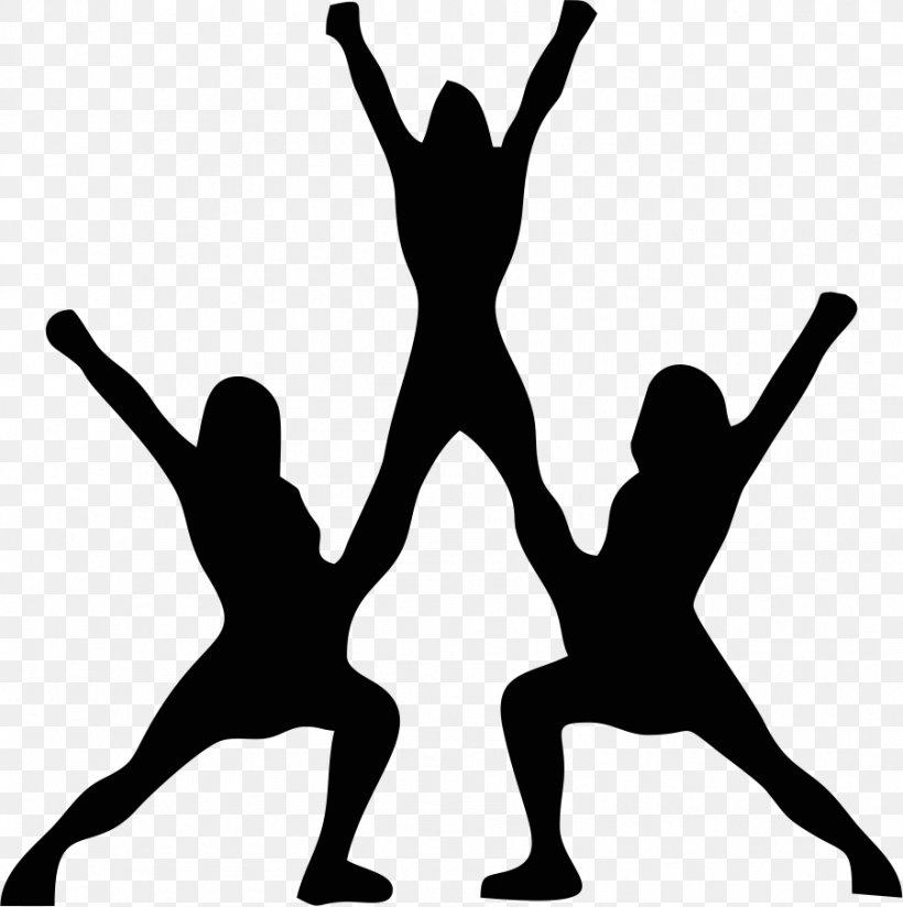 Cheerleading Silhouette Stunt Clip Art, PNG, 901x906px.