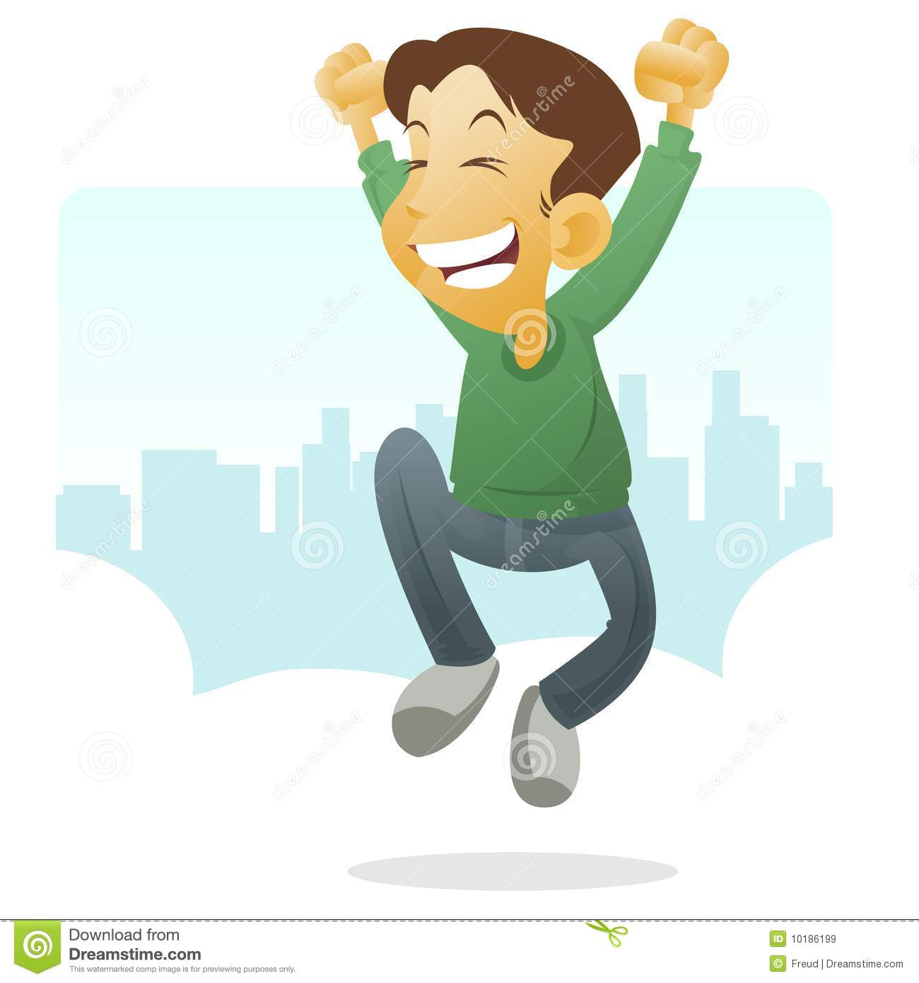 Happy Kid Jumping Royalty Free Stock Images.
