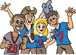 Cheering Fans Clipart.