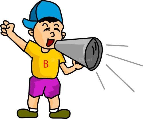 Boys Cheering Clipart.
