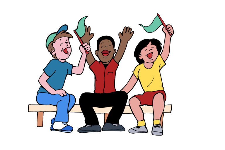 Clipart People Cheering.