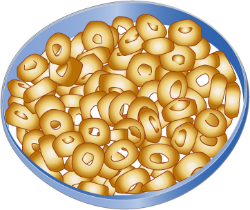 Cartoon Bowl Of Cereal.