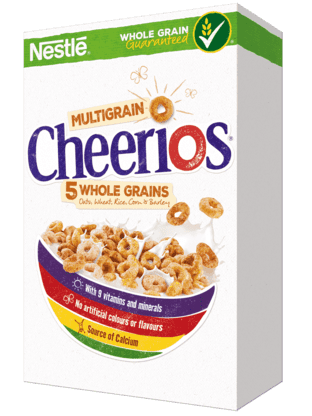 Cheerios Multigrain Wholesome Cereal.