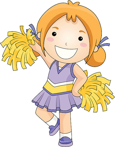 Best Cartoon Of The Cheerleader Illustrations, Royalty.