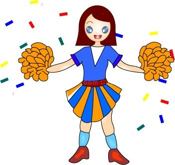 Cheerleader Clipart.