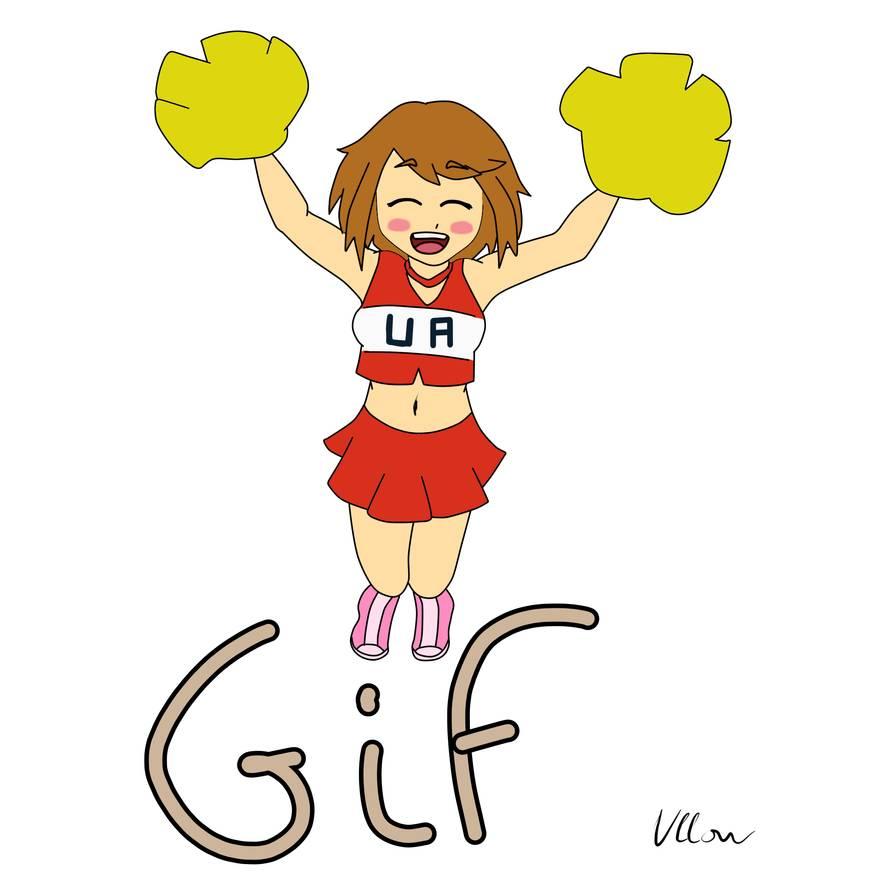 Ochako Uraraka the cheerleader [animation] by Ullow on DeviantArt.