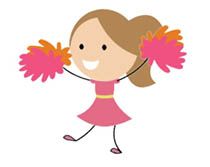 Cheerleading Animated Clipart.