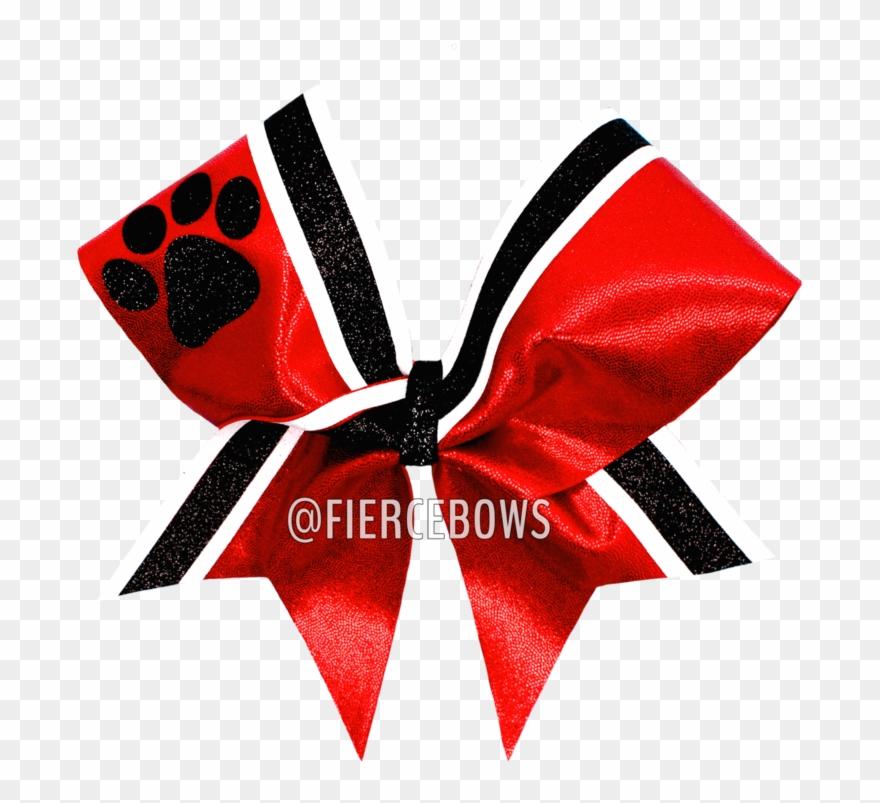 Mascot Border Twin Cheer Bow.