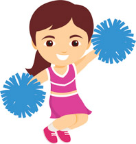 Free Cheerleading Clipart.