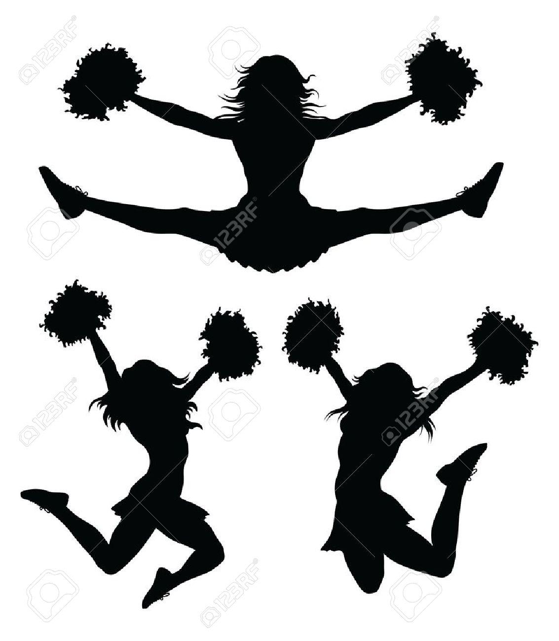 Cheerleader clipart silhouette.