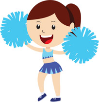 Free Cheerleading Clipart.