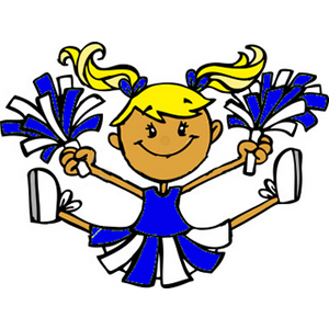 Cartoon Cheerleader Clipart.