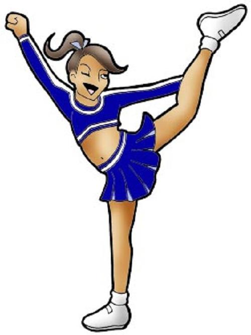 Cheerleading clipart cartoon, Cheerleading cartoon.