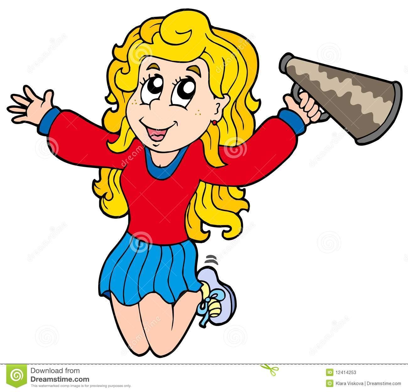 Cheerleader cartoon clipart 1 » Clipart Station.