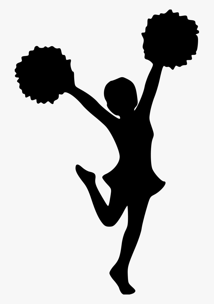 Transparent Cheerleader Silhouette Png.