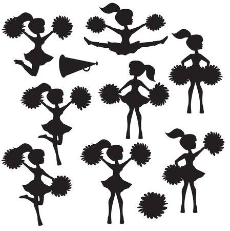 Cheerleader clipart silhouette 5 » Clipart Station.