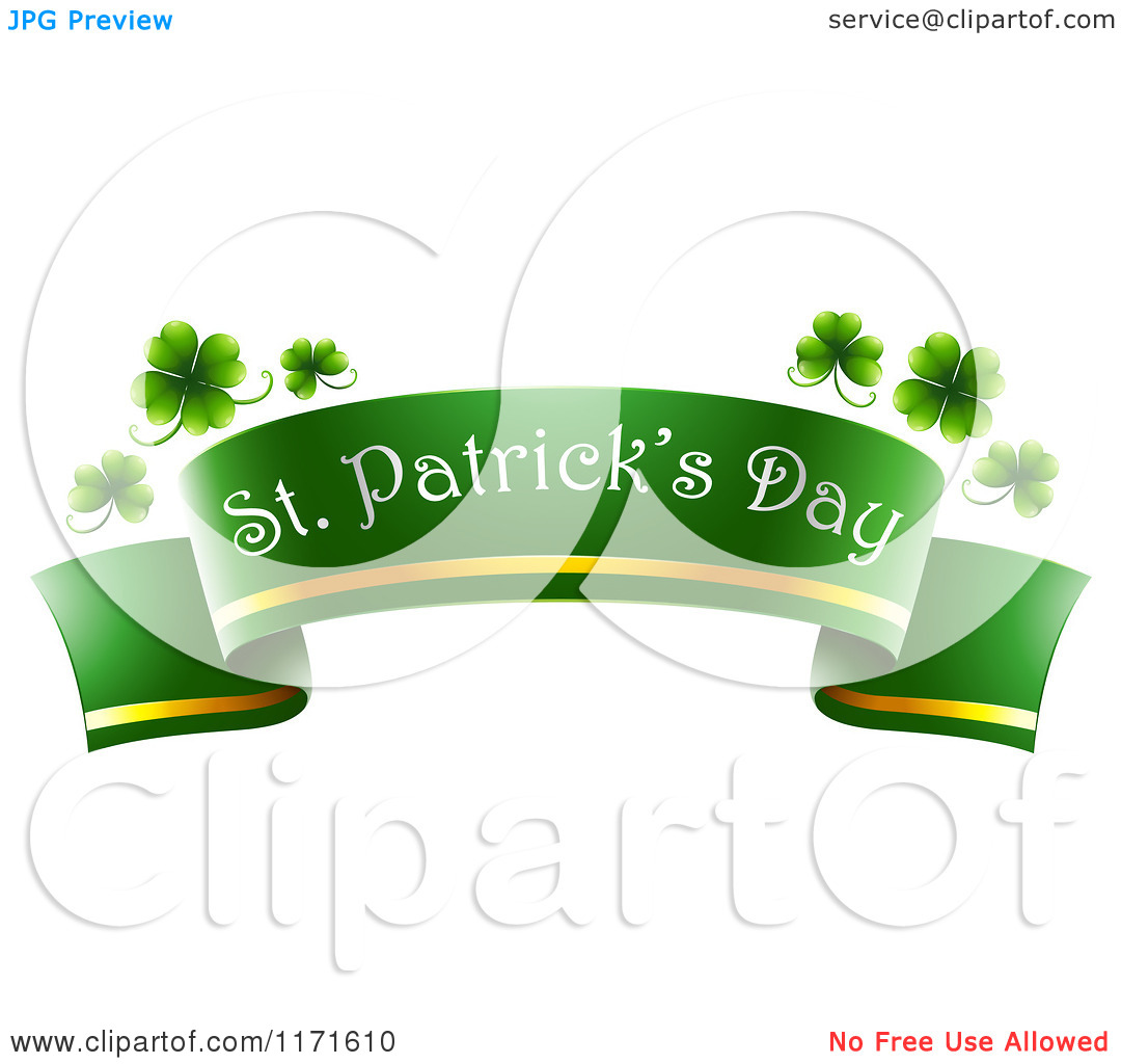 Green And Gold Day Clipart.