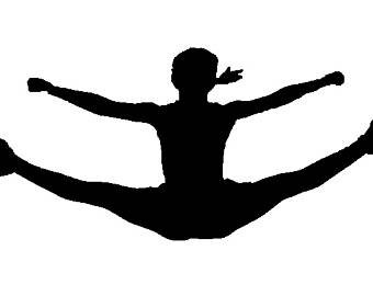 Cheerleading Clipart Toe Touch.