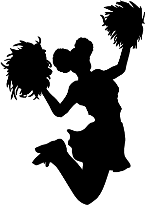 Cheerleading Clipart transparent PNG.