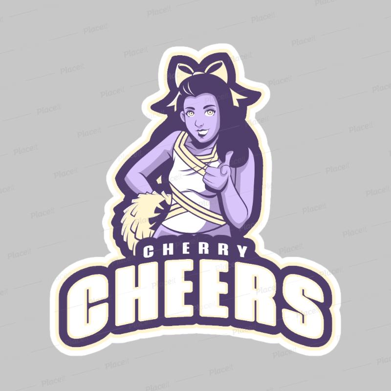 Cheerleader Logo Maker with a Cheerleader Illustration 1595.