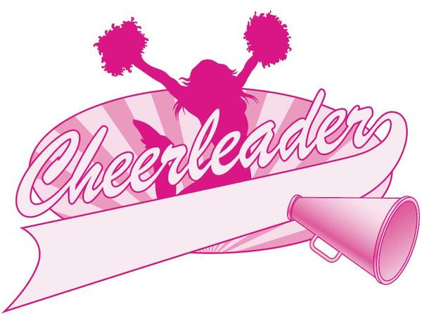 Cheerleader Jump Logo Design vector free download.