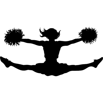Cheerleading Jump Clipart transparent PNG.